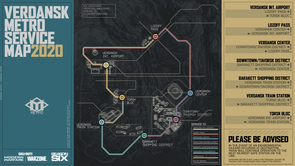 COD Warzone Metro System