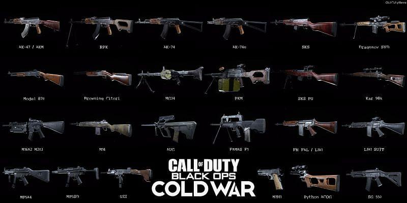 New guns on Cold War Season 1
