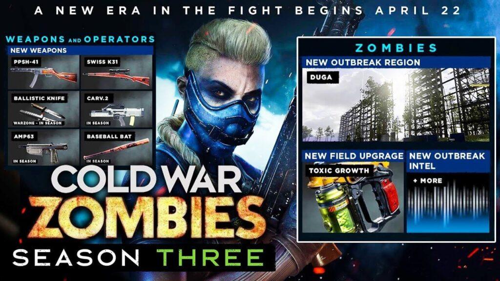 Call of Duty cold war season 3 zombies